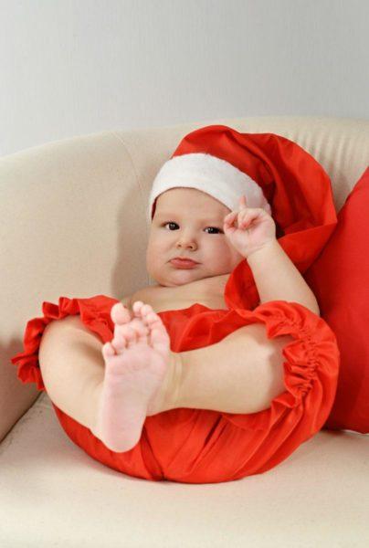 foto bimbo natalizio